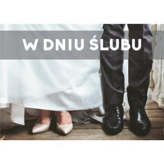 Kartka - W dniu ślubu - deski