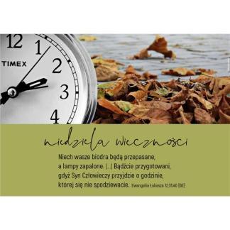 Plakat - niedziela wieczności- zegar