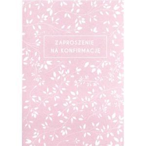 Zaproszenie konfirmacyjne - kwiaty róż