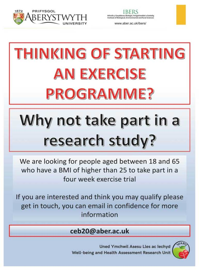 Exercise Programme Recruitment Poster