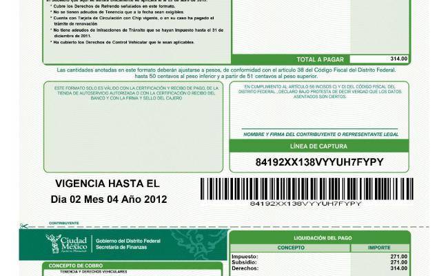 Imprimir Formato De Tenencia 2019 Justgoing 2020