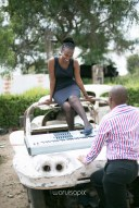 Kenyan destination wedding engagement session in a car yard in the wild by waruisapix-35