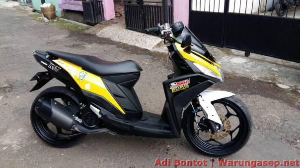 Modifikasi Yamaha Mio M3 125 Jadi Maxi