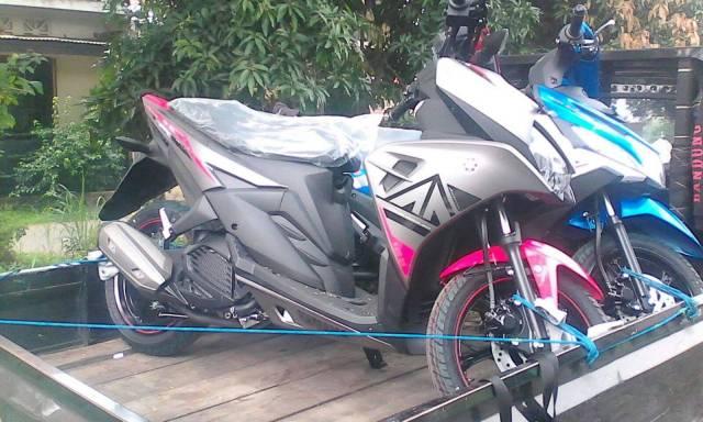 Yamaha Aerox 125 striping Pink, eh beneran warna pink ya?? :D