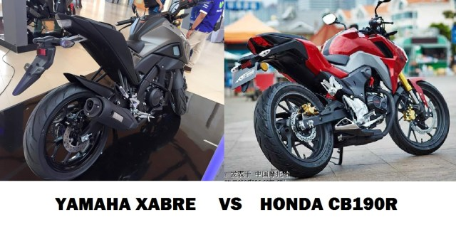 new xabre vs cb190r