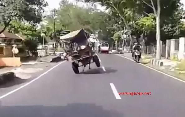 delman ngamuk di tasikmalaya