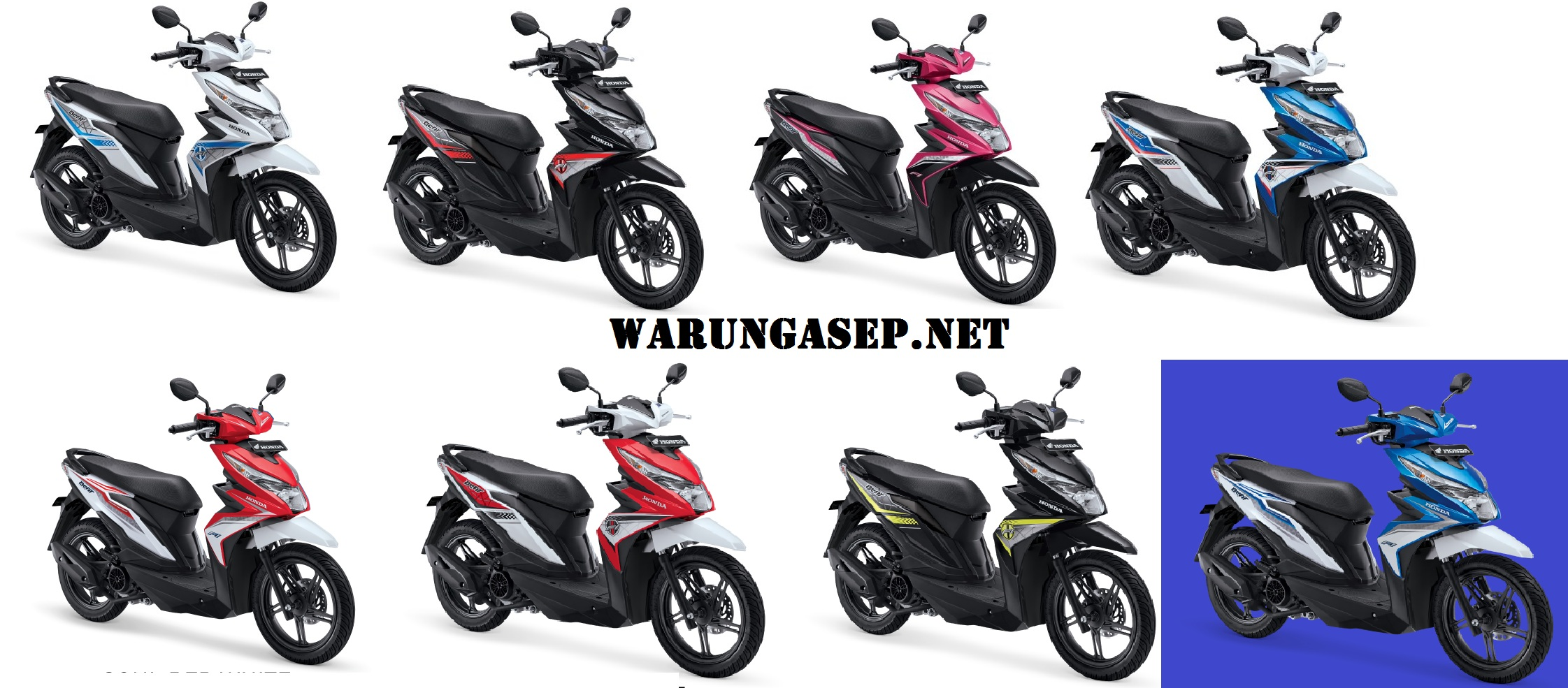Foto Studio 8 Warna All New Honda Beat ESP 2016 Ada Pilihan Warna