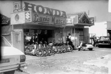 Potret Dealer Motor Honda Jaman Dulu sekitar tahun 70'an