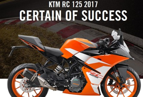 KTM RC 125 facelift 2017