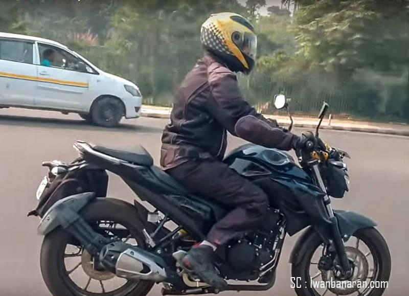 Tampak samping Yamaha Byson FI facelift