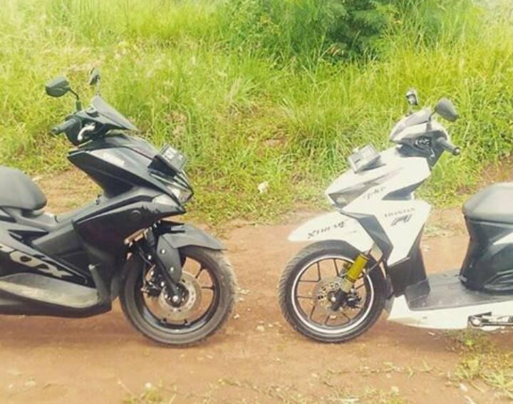 Perbandingan Fisik Yamaha Aerox dan Honda Vario, 150cc vs 155cc yang Harganya Cuma Beda Rp 700ribuan