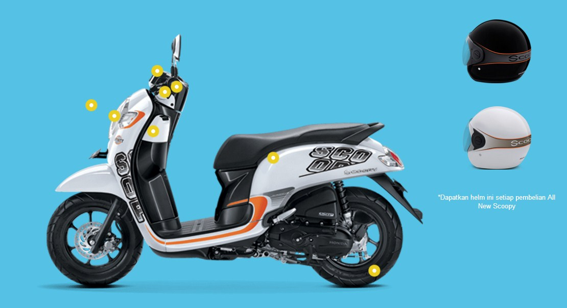 Helm Honda Scoopy Warungasep