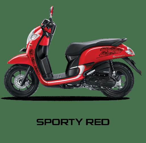 honda scoopy 2017 merah