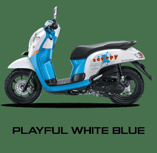 honda scoopy 2017 putih biru