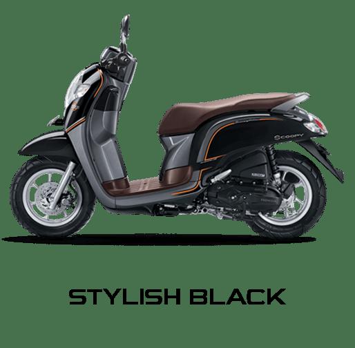 honda scoopy 2017 stylish hitam