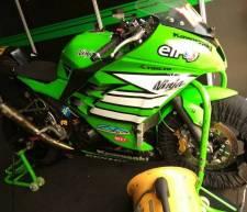 Motor Kawasaki Ninja satu-satunya di Kejurnas IRS 250cc