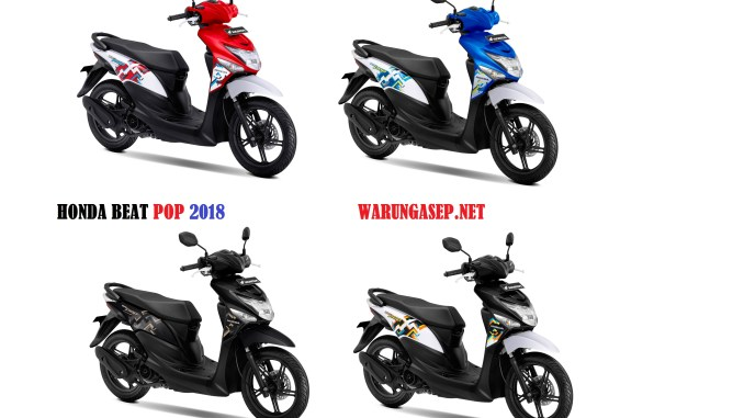4 Warna Baru Honda Beat Pop 2018