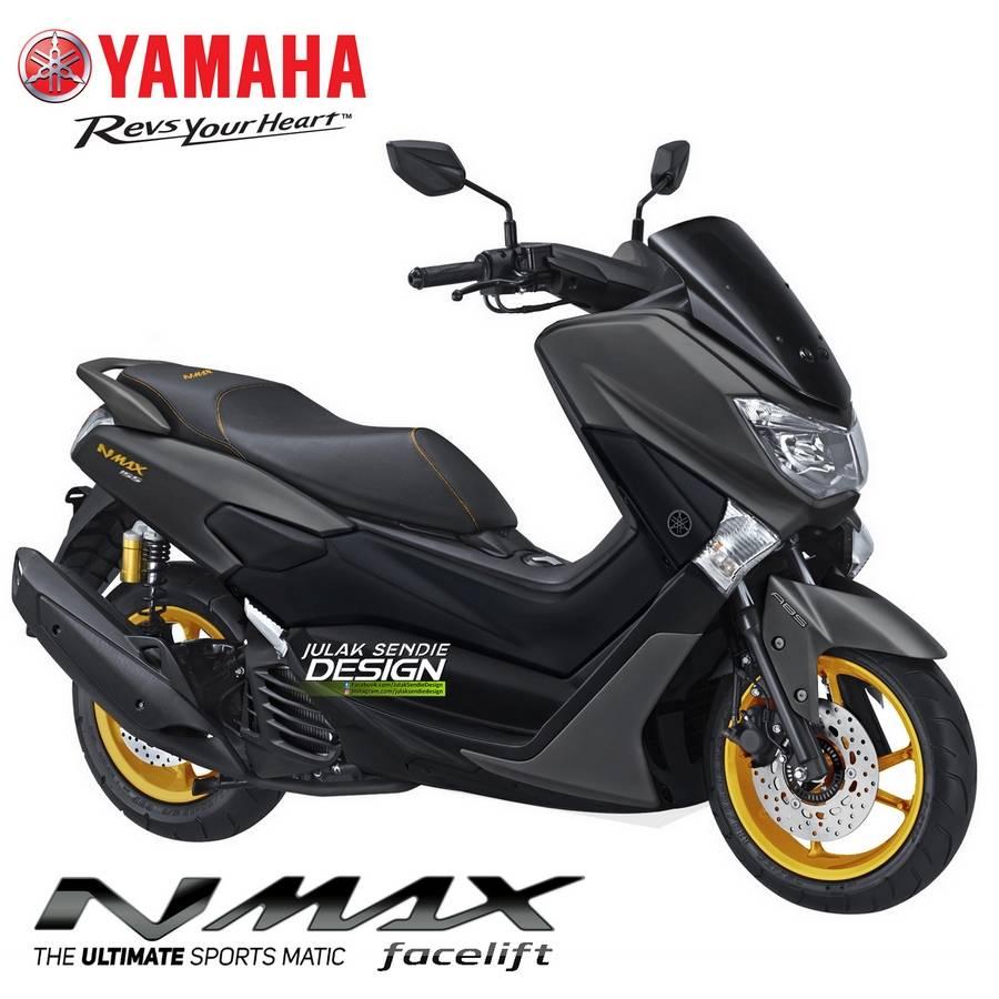 Bocoran dan Spyshots Yamaha N-max facelift... Pakai Velg Emas dan Shock Tabung?