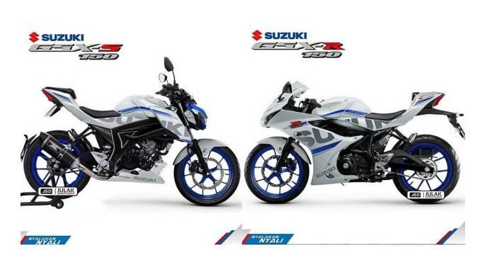 Jika Suzuki Gsx R150 Dan Gsx S150 Facelift 2018 Warna Putih Velg