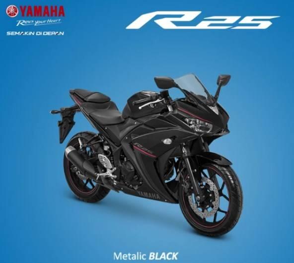 r25 facelift 2018 hitam