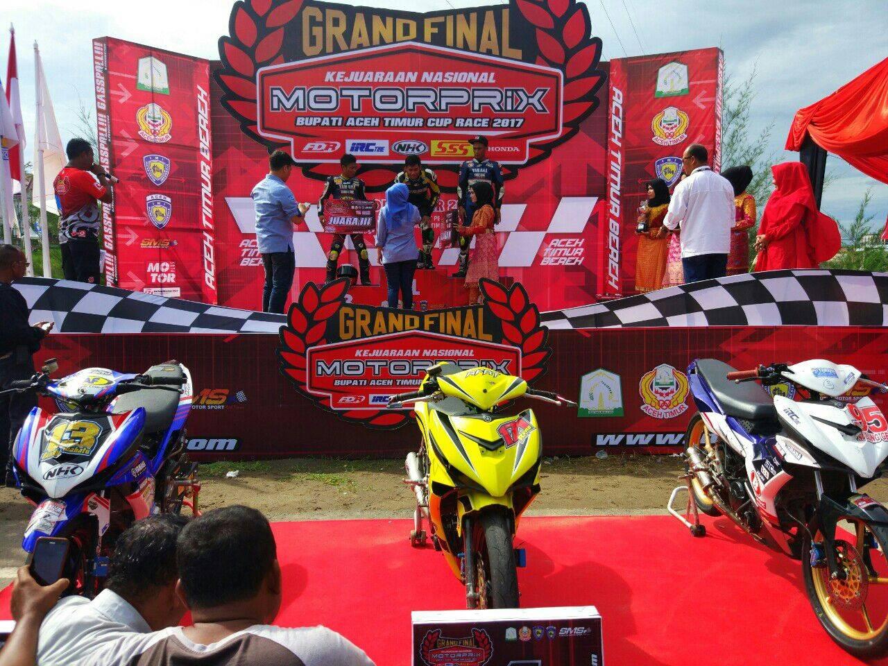 Yamaha MX King sapu bersih race 1 MP1 Motorprix Aceh 2017