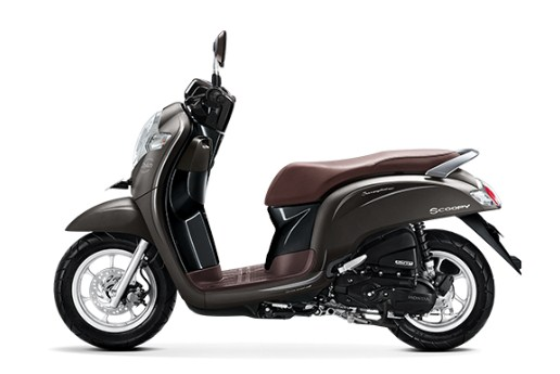honda scoopy 2018 stylish matte brown
