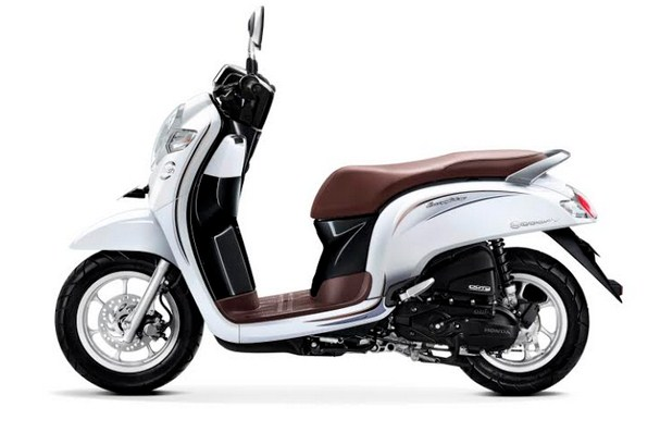 scoopy 2018 stylish white