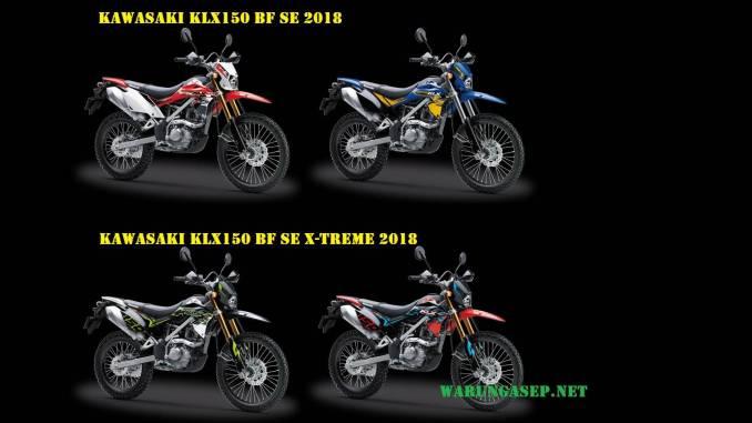 4 Warna Kawasaki Klx150 2018 Versi Bf Se Dan Bf Se X Treme Foto