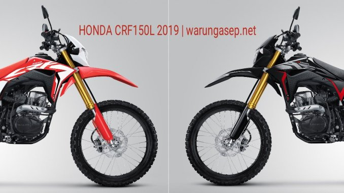 Honda Crf150l 2019 Ada Warna Baru Dan Pakai Velg Hitam Harga Naik