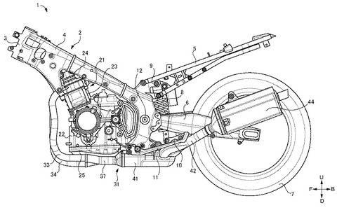 hayabusa facelift patent frame