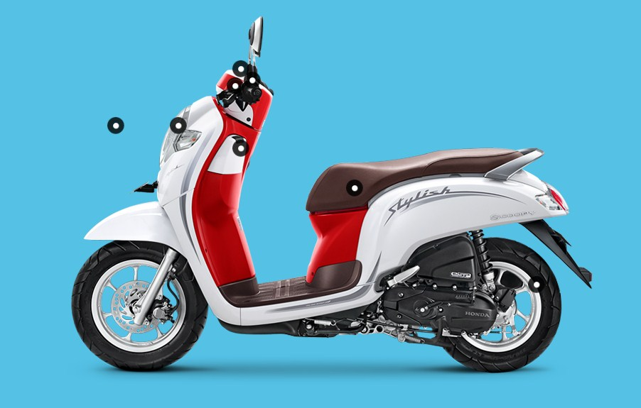 Jual Sepasang Kaca Spion Kanan Kiri Honda All New Scoopy Fi Esp