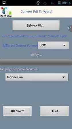 Cara Convert PDF ke Word di Smartphone Android