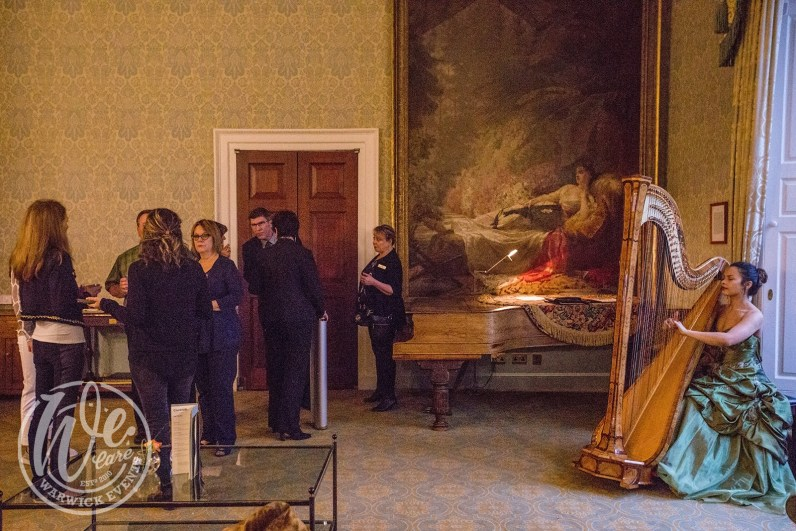 Shakespeare drinks reception harpist