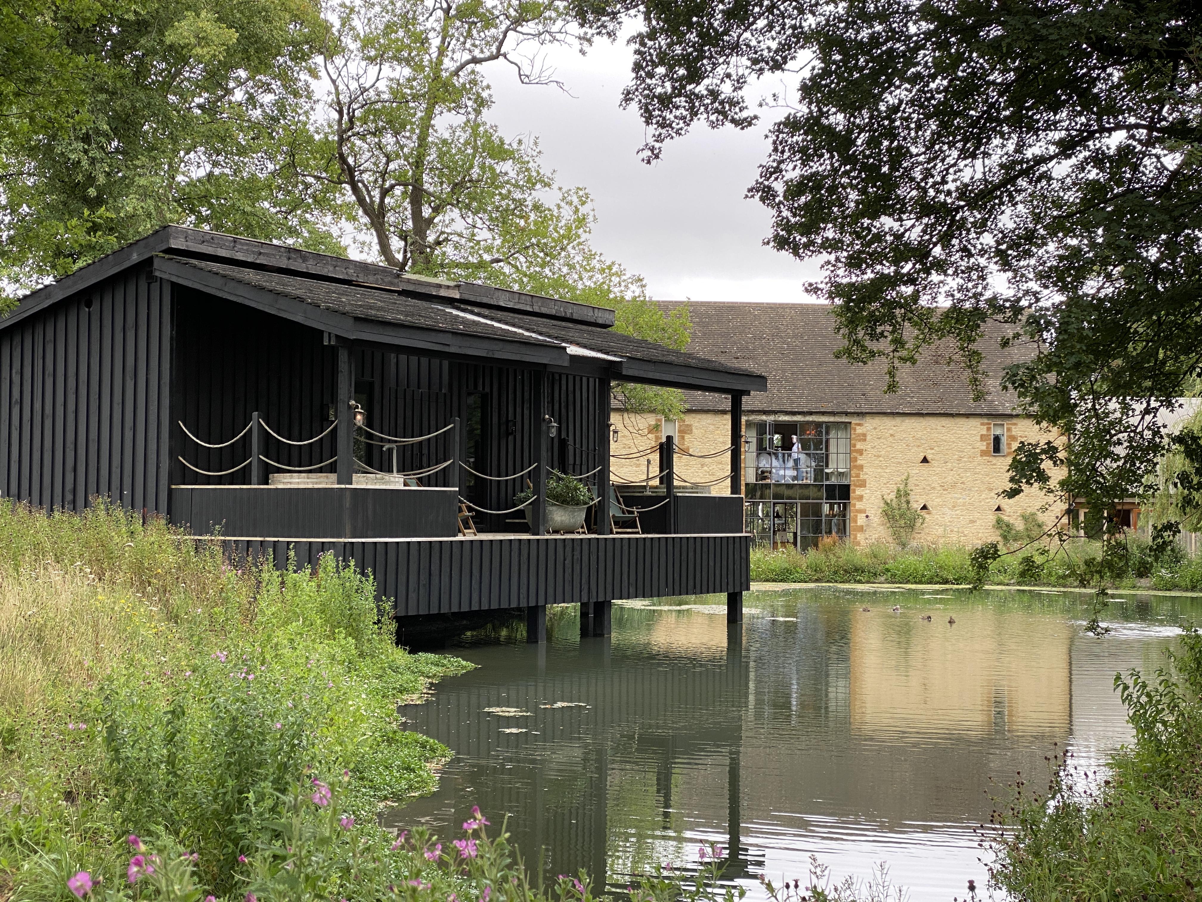 Lakeside accommodation on stilts at Soho Farmhouse