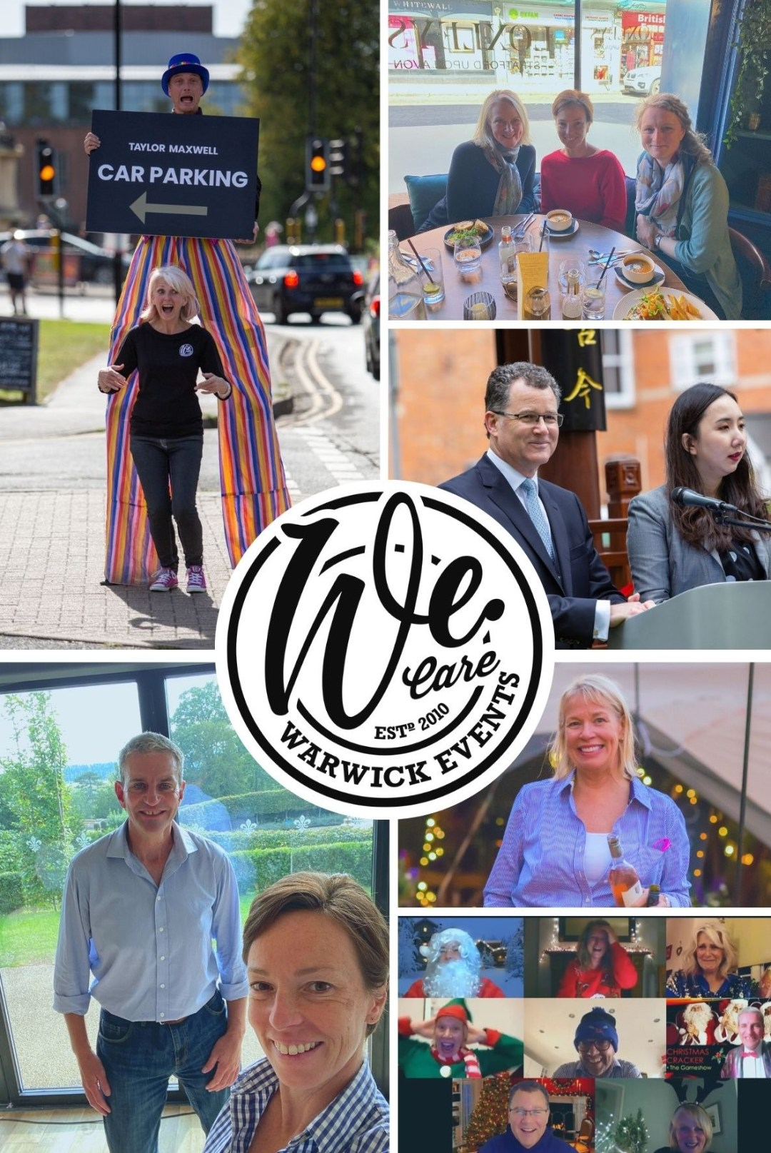 Collage of photos of the Warwick Events' Family