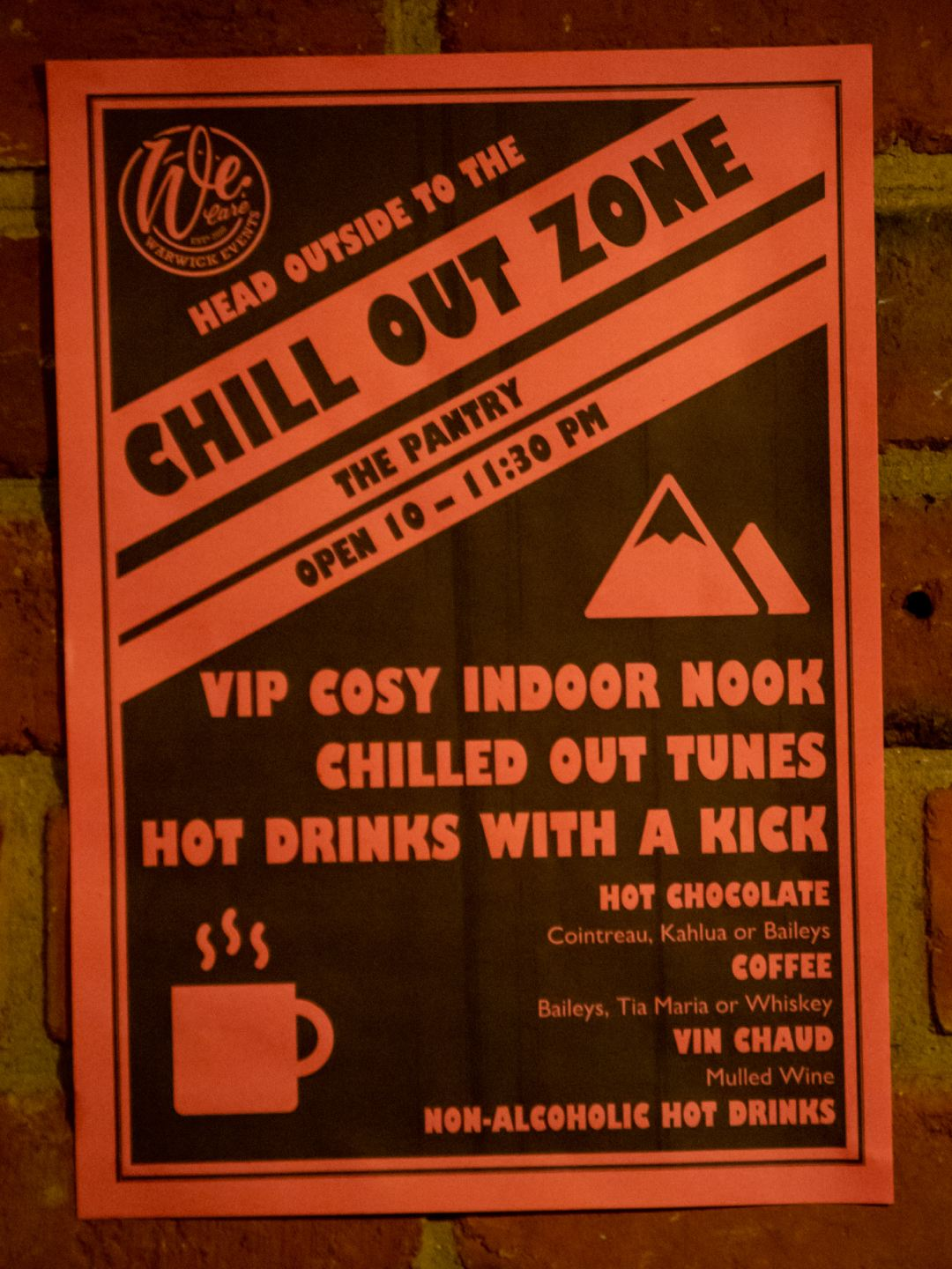 Chill out zone poster