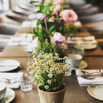 plants used as sustainable table decor