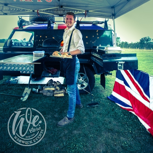 Pizza Oven in a Land Rover Warwickshire