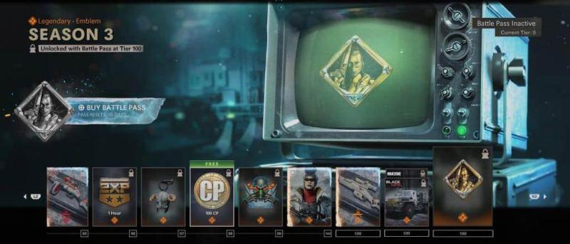 Tier 100 Season 3 Battle Pass