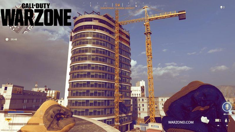 the top of Warzone's tallest building