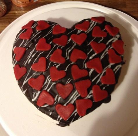 Marmorkuchen in Herzform