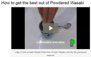 How to make the best Wasabi paste from powder