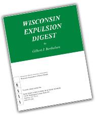 Wisconsin Expulsion Digest (2017 ed.)