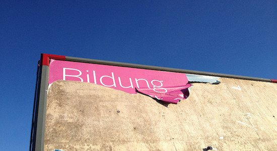 Bildung am Ende? Foto: any.user/Flickr