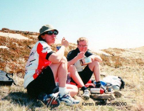 Karen & Tamela - Buck Hill Lunch 2000