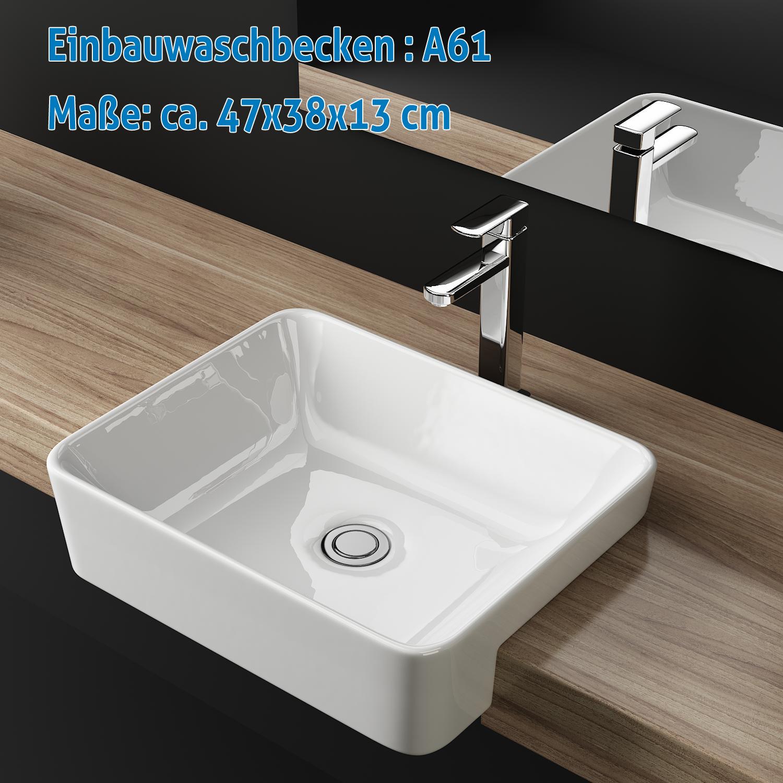keramik waschbecken k che vidaxl waschbecken quadratisch keramik wei waschtisch. Black Bedroom Furniture Sets. Home Design Ideas
