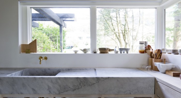 Kuchen Arbeitsflache In Marmor Waschbecken Aus Naturstein By