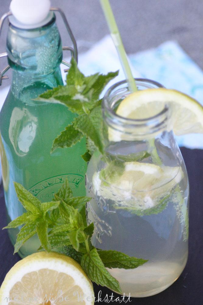 sommerliche Getränke: Minz Limonade
