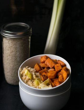Süßkartoffelbowl mit Reis