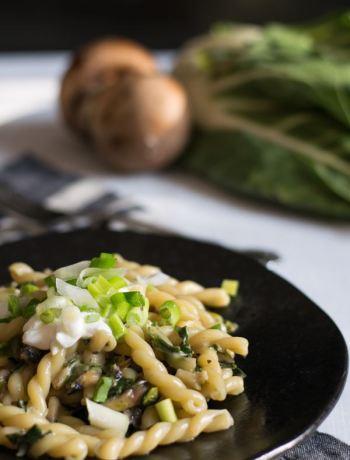 Nudeln mit Mangold und Gorgonzola